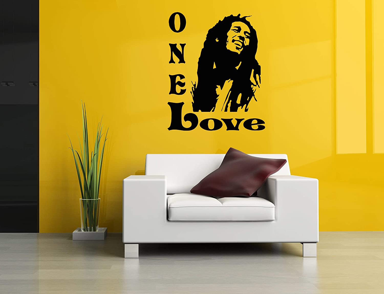 Vinyl Sticker Bob Marley Portrait Face Poster Topics on TV Sign Love Selling Regg One