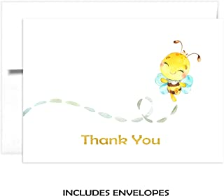 bee baby shower thank you cards