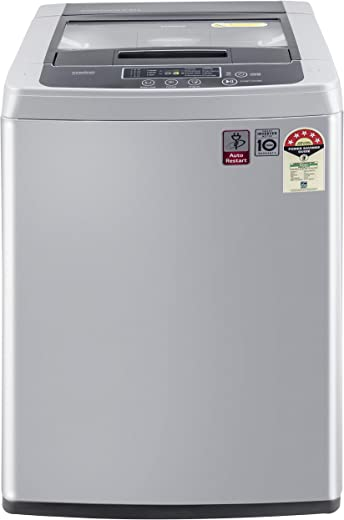 LG 6.5 Kg 5 Star Smart Inverter Fully-Automatic Top Loading Washing Machine (T65SKSF4Z, Middle Free Silver) 1