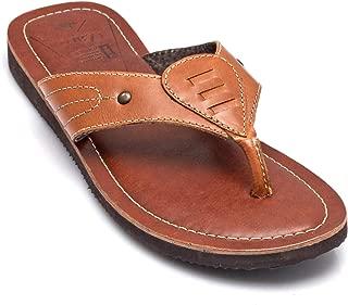 tZaro Genuine Leather Tan & Brown Slippers - Cirius 1903, SLPGVWV1902TN