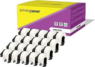 24mm x 24mm for Brother QL-500 QL-550 QL-560 QL-570 QL-580N QL-700 QL-720NW QL-800 QL-1050 QL-1060N Label Printers Round Labels Compatible DK11218 1000 Labels per Roll Etich Circolari Adesive
