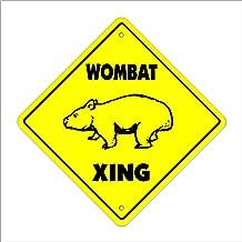 onepicebest Wombat Crossing Decal Zone Xing Animals Australian Marsupials Australia Funn Metal Novelty Sign 12