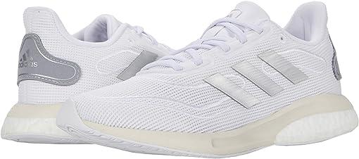 Footwear White/Silver Metallic/Chalk White