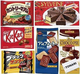 チョコレート菓子 詰め合わせ 6種セット (カントリーマアム、ブラックサンダーミニバー、プチチョコパイ、アルフォート、キットカット、シルベーヌ)TOANRIティッシュセット