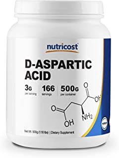 Nutricost D-Aspartic Acid (DAA) Powder 500G - High Quality D-Aspartic Acid