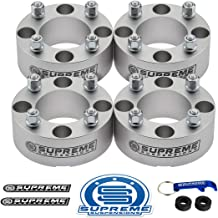 Supreme Suspensions - 4pc Set of 2 Wheel Spacers for 2003-2013 Brute Force 650 and 2005-2017 Brute Force 750 | 4x110mm Bolt Pattern M10x1.25 Studs & 74.1mm Center Bore ATV Wheel Spacer [Silver]