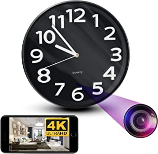 NinjaPro 2-in-1 Hidden Camera Clock with 1080P HD Video Capturing, Night Vision, Motion Detection and Live Wireless App Ac...