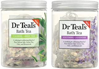 Dr. Teal's Soothing Green Tea and Calming Lavender Bath Soaks Variety Pack of 2-6 oz total