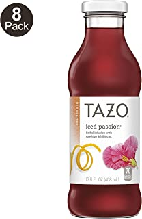 Tazo Passion Fruit Iced Tea, 13.8 Ounce Glass Bottles 8 Count
