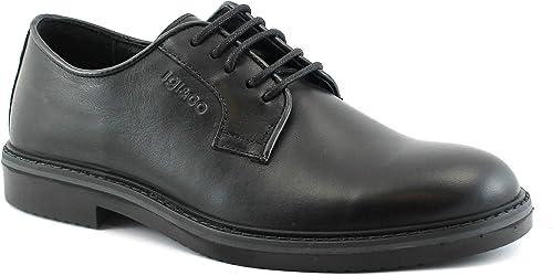 IGI & CO 2112000 Chaussures Noir Homme Cuir élégant Derby Lacets Lisses