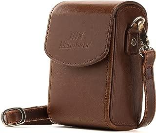 MegaGear Protective Leather Camera Case, Bag for Panasonic Lumix DC-ZS70, DMC-LX10, DMC-ZS60, DMC-ZS100, DMC-LX15, DC-TZ95, DC-TZ90, DMC-TZ80, DMC-TZ100 (Dark Brown)