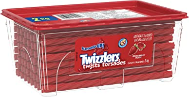 TWIZZLERS Strawberry Licorice Twists Candy, Summer Candy, 2kg Bulk Tub