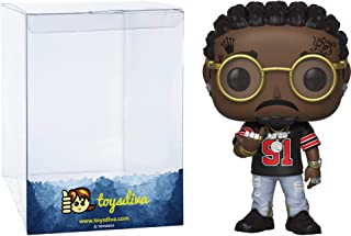 Quavo: Funk o Pop! Rocks Vinyl Figure Bundle with 1 Compatible 'ToysDiva' Graphic Protector (109 - 37854 - B)
