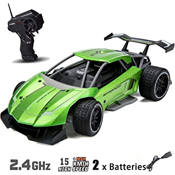 Remote Control Car for Boys Hight Speed RC Racing Car Alloy Rechargeable Toy Cars 1:16 Scale 2.4Ghz