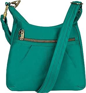 Travelon Anti-Theft Signature Top Zip Shoulder Bag (Emerald)