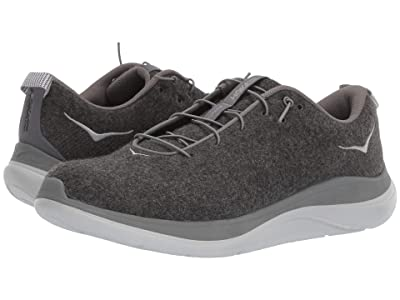 Hoka One One Hupana Flow Wool (Dark Shadow/Charcoal Gray) Men
