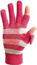 Freehands Women's Stripe Wool Knit Gloves