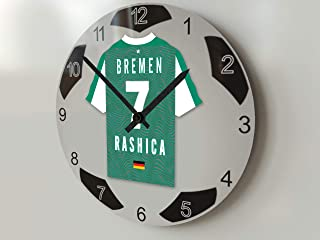 FanPlastic Deutschland Bundegliga, große Fußball-Uhr – alle Teams, Fußball-Uhren-Stand-Design. !