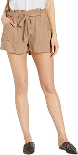 Belt It Out Rayon Twill Shorts
