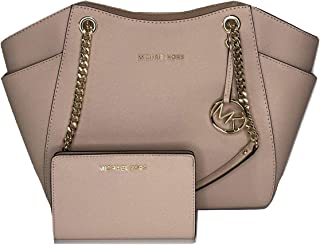 MICHAEL Michael Kors Jet Set Travel Large Chain Shoulder Tote bundled with Michael Kors Jet Set Travel Slim Bifold Wallet