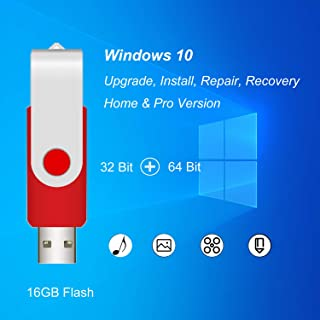 ILamourCar USB Compatible with Windows 10 Home&Professional 32&64 Bit&Antivirus Recovery Repair Reinstall Clean Reboot Res...