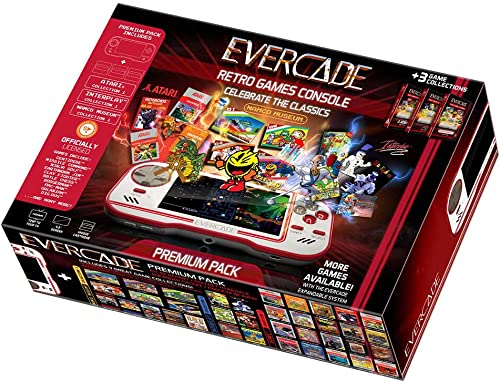 Blaze Evercade Premium Pack - Console + Cartouches N°01 Atari vol.1 + N°02 Namco vol.1 + N°04 Interplay vol.1 Inclus