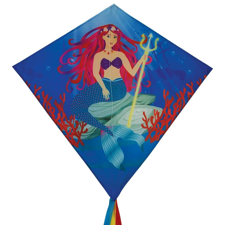 In the Breeze 3258 - Mermaid 30 Inch Diamond Kite - Fun, Easy Flying Mermaid Kite