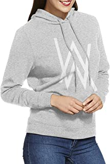 Women's Hooded Sweatshirt No Pockets Alan Walker Unique Original Style Gray