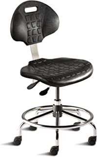 BioFit Engineered Products UUS-L-RC-C UniqueU Series Desk Height Chair with Black Self-Skinned Urethane Seat and Backrest