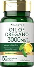 Oregano Oil 3000mg   150 Softgel Capsules   Non-GMO and Gluten Free Supplement   Contains Carvacrol   Max Potency Extract   by Carlyle
