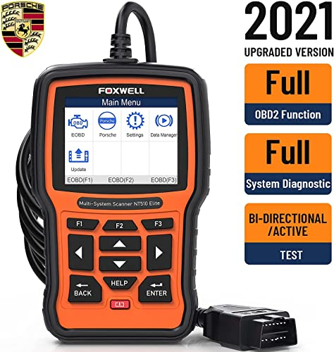 2021 Foxwell NT301 Obd2 Scanner online sale and NT510 Elite for Porsche new arrival Scan Tool online