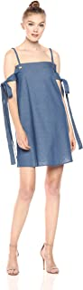 Lucca Couture Women's Mini Dress with SLV Tie Detail