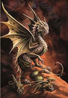 3d CARTE POSTALE avec dragon-Dragon Warrior by Anne Stokes-Fantasy Carte de voeux
