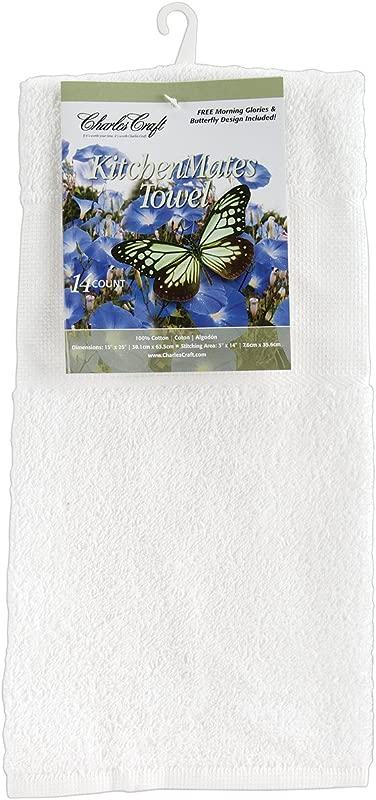 Charles Craft TT6075 6750 Kitchen Mates Hemmed Towel White 15 By 25 Inch