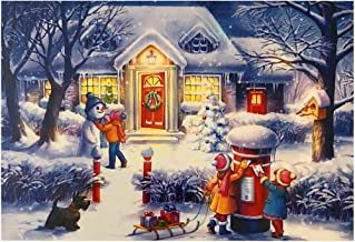 100 Pieces Jigsaw Puzzles for Children Kids Adults Puzzles Christmas Winter Day Jigsaw Puzzles 15 x 10 Inches