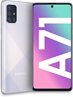 "Samsung Galaxy A71 Smartphone, Display 6.7"" Super AMOLED, 4 Fotocamere Posteriori, 128 GB Espandibili, RAM 6 GB, Batteria ..."