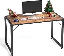 "VANERGY Computer Desk 47"" Writing Workstation Study Laptop Desk Modern Stitching Style Home Office Desk,Black Frame"