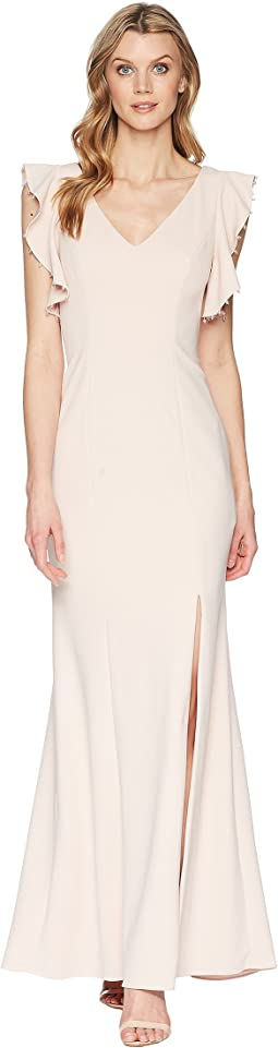 Adrianna Papell Long Crepe Dress