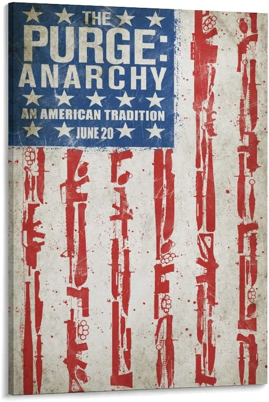 Movie The Purge Product Anarchy 2014 Sheriff Poster Deco Rapid rise Barnes 6a Leo
