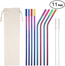Metal Straws Stainless Steel Straws,8 10.5