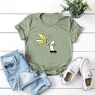 Qiyun Female Cute Short Sleeve T-Shirts Cotton Fruits Pattern Tops