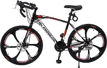 "PUTEARDAT 26"" Road Bike 21 Speed 700C Commuters Aluminum Full Suspension Road Bicycle Disc Brakes Mountain Bikes for Men a..."