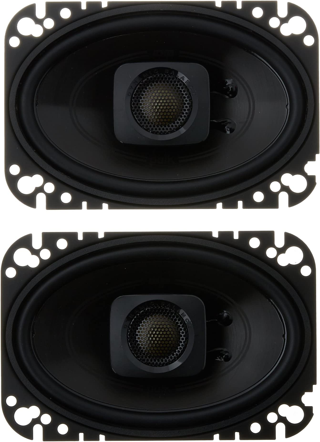 "Polk Audio DB462 DB+ Series 4""x6"" Coaxial Speakers with Marine Certification, Black"