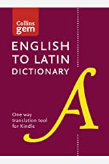 English to Latin (One Way) Gem Dictionary: Trusted support for learning (Collins Gem) Kindle Edition