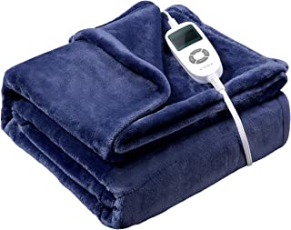 Heated Blanket, VIPEX Electric Heated Throw Blanket with 10 Heat Settings Auto Shut Off Soft Warm Blankets for Travel Home, 50