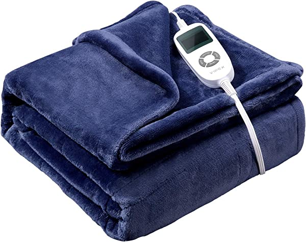 Heated Blanket VIPEX Electric Heated Throw Blanket With 10 Heat Settings Auto Shut Off Soft Warm Blankets For Travel Home 50 X 60