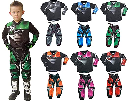 MOTORBIKE WULF FORTE KIDS MX RACE PANTS 2020 New Wulfsport Motocross Quad ATV Off Road Enduro MTB BMX Pit Dirt Bike MX Sports Kart Cub Junior Trouser Pant Bottom