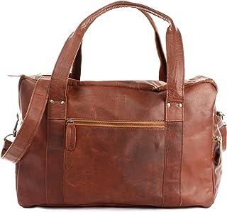 LECONI Reisetasche für Damen  Herren Büffelleder Handgepäck Leder Sporttasche Unisex groß Weekender für Reise, Urlaub und Kurztrip Wochenendtasche 55x30x21cm LE2014