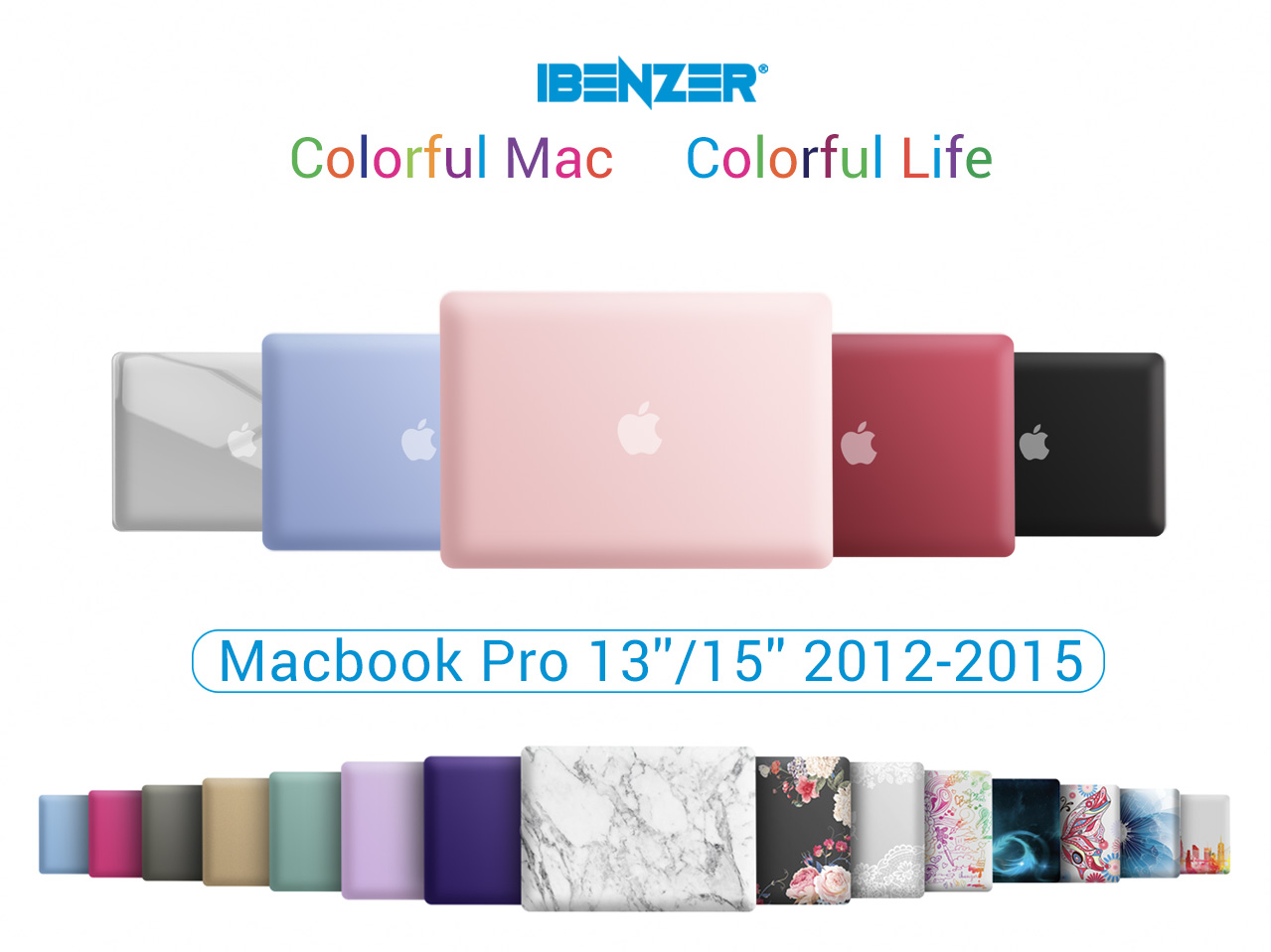 IBENZER MacBook Pro 13 Inch Case 2012-2015, Soft Touch Hard Case Shell Cover for Apple MacBook Pro 13 with Retina Display A1425 1502, Love, MMP13R-LOVE+1