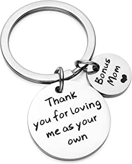 Father's Day Mother's Day Gift Thank You For Loving Me As Your Own Keychain For Step Dad/Mom